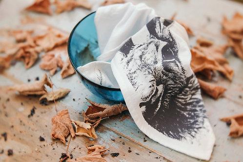 Moon Hare Tea Towel: Organic Fluffy