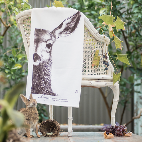 Willow Tea Towel: Organic Fluffy