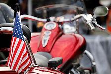American flag on a trike