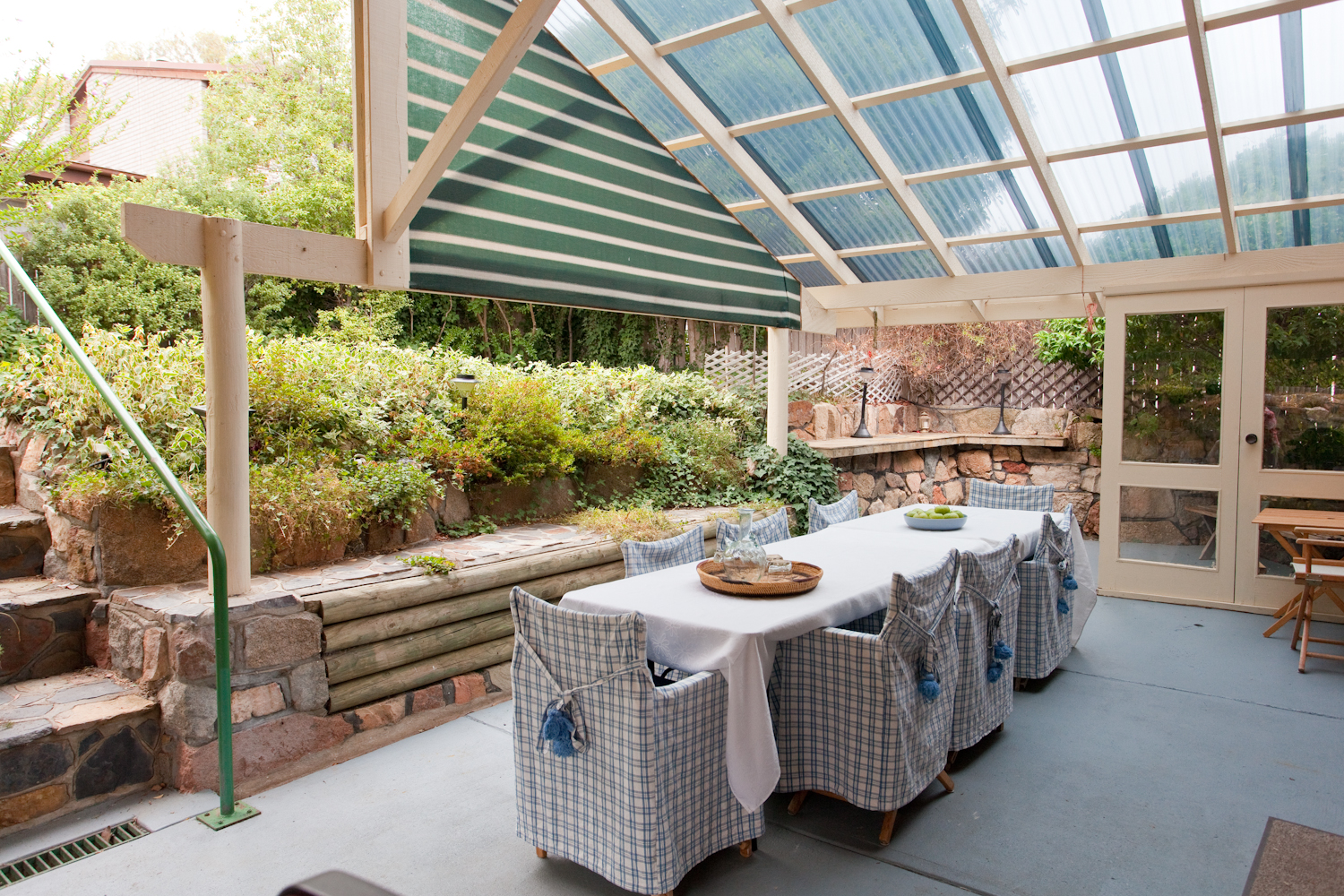 Back patio dining