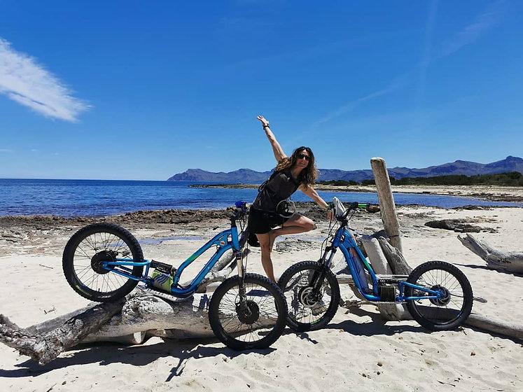 Margalida enjoy our e-scooter tour