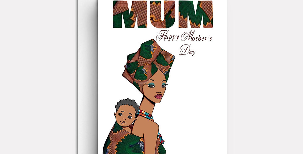 Mothers Day Card  | Fun Afrocentric Cards | Personalised, Unique