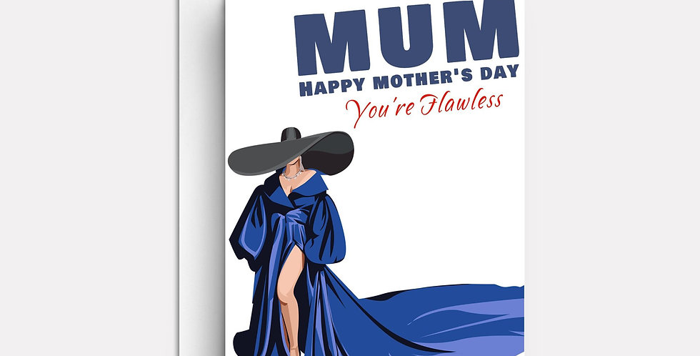 Mothers Day Card  | Personalised, Unique Card | Fun Celebrity Cards | Afro