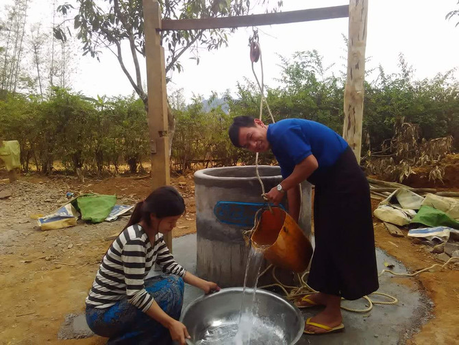 Water well in  Maing Hsu, Myanmar  provided by IDES Grant
