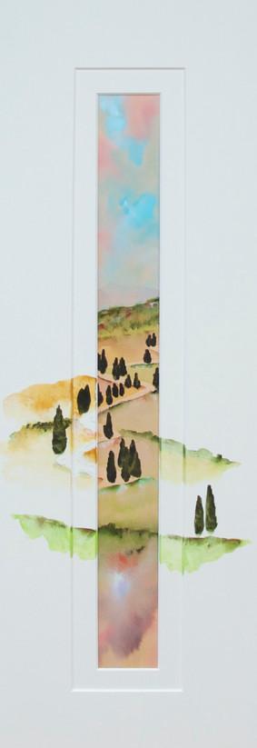 strada con cipressi - Monticchiello
