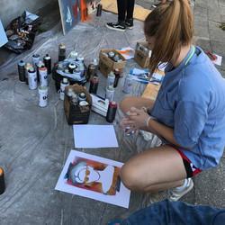 Gadekunst workshop med Rustam QBic