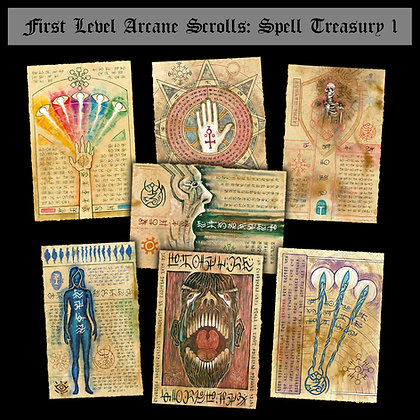 First Level Arcane Scrolls: Spell Treasury I