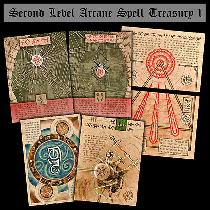 Second Level Arcane Scrolls: Spell Treasury I