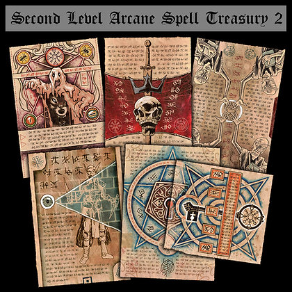 Second Level Arcane Scrolls: Spell Treasury II