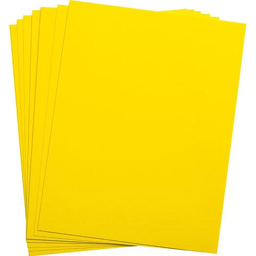 .005 Bright Yellow Matte/Matte KR-Toner Polyester 8.5X11 - 100 sheets