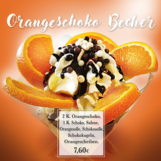Orange becher