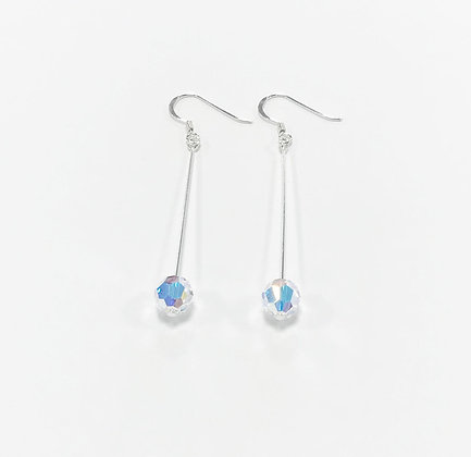 Swarovski Round Crystal Long Earrings