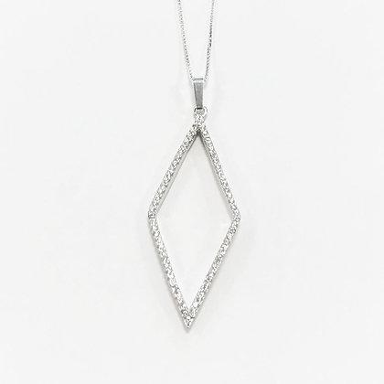 Sterling Silver Cubic Zirconia Diamond Pendant