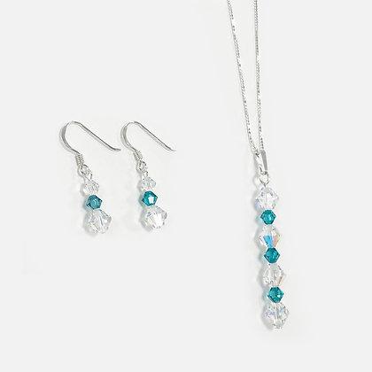 Swarovski Teal Jewellery Set