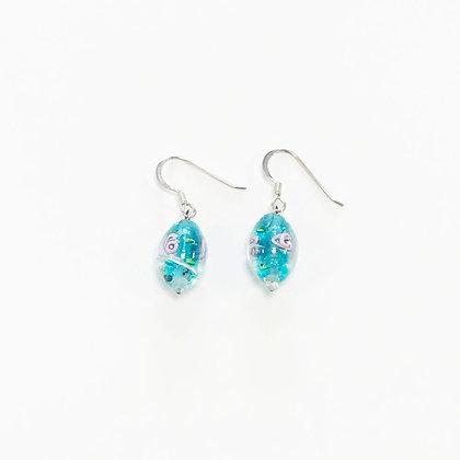 Venetian Glass Teal Earrings