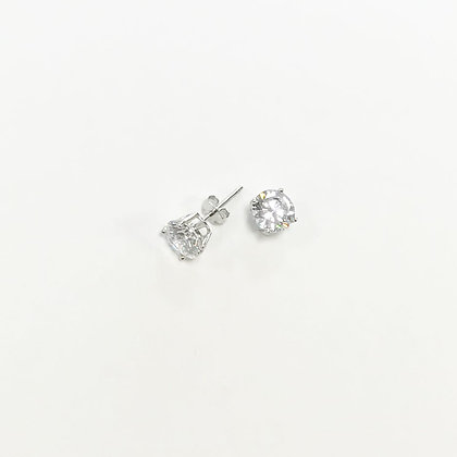 Sterling Silver Cubic Zirconia Round Studs