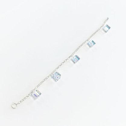 Swarovski Cube Charm Bracelet