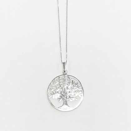 Sterling Silver Tree of Life Disc Pendant