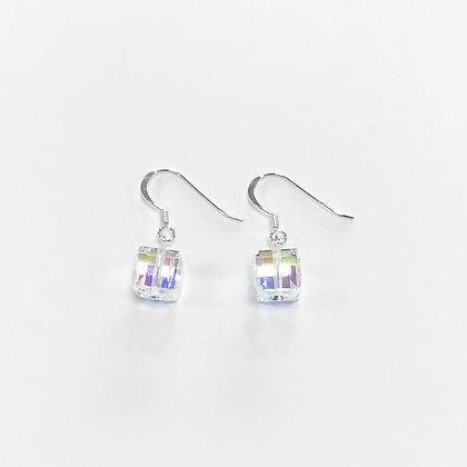 Swarovski Cube Short Earrings