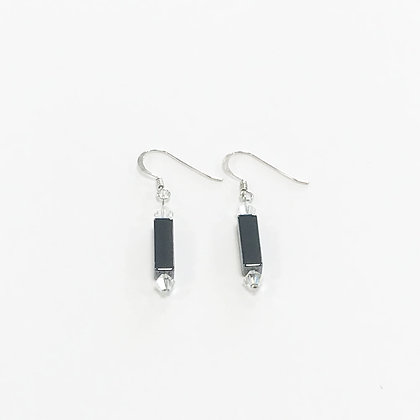 Hematite Rectangle Earrings