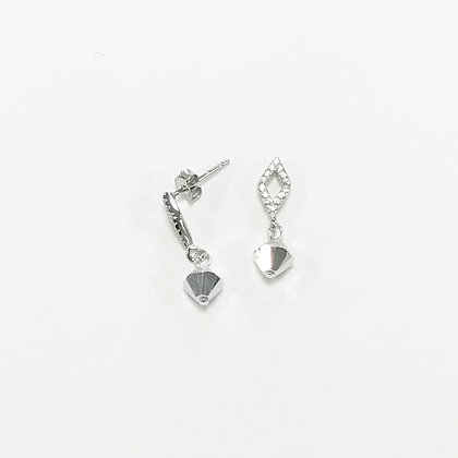 Sterling Silver Cubic Zirconia Diamond Earrings