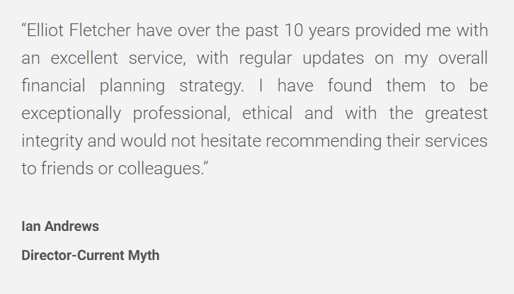 Great Testimonials for Elliot Fletcher Ltd