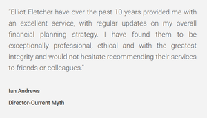 Great Testimonials for Elliot Fletcher Ltd