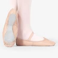 Child Leather Full Sole Ballet Shoes