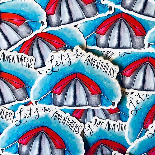 Let's Be Adventurers - Vinyl Sticker