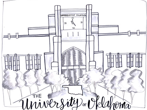 University of Oklahoma Gaylord Stadium- 9x12 Print