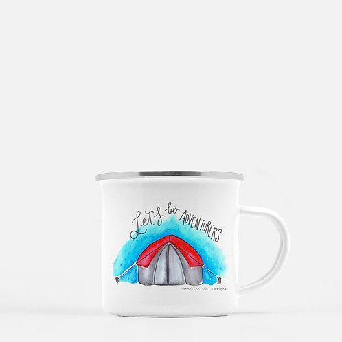 Let's Be Adventurers- Metal Camping Mug