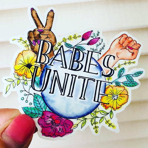 Babes Unite - Vinyl Sticker