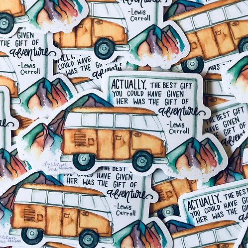Gift of Adventure  - Vinyl Sticker
