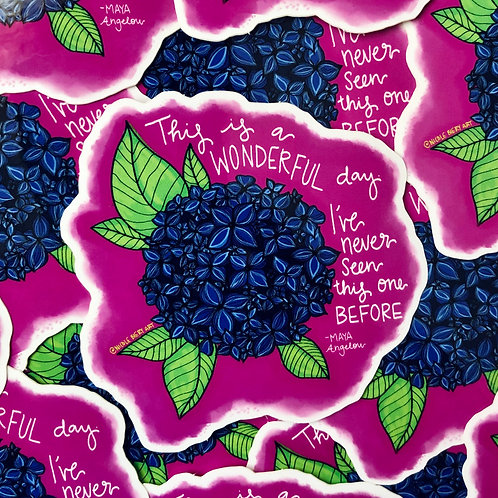 Wonderful Day Hydrangea - Vinyl Sticker