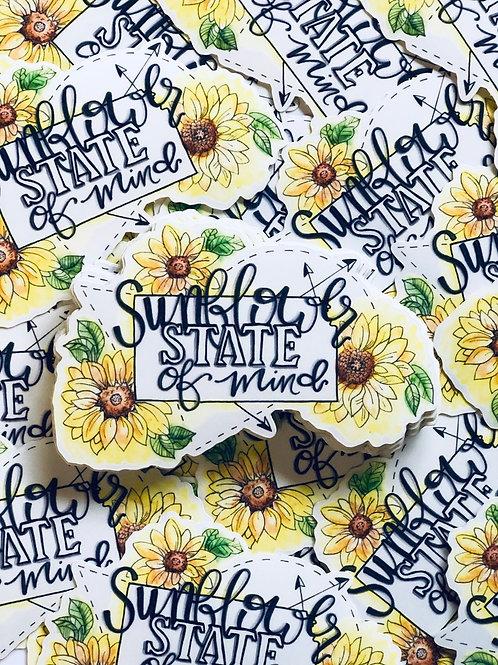 Sunflower State of Mind - Vinyl Sticker