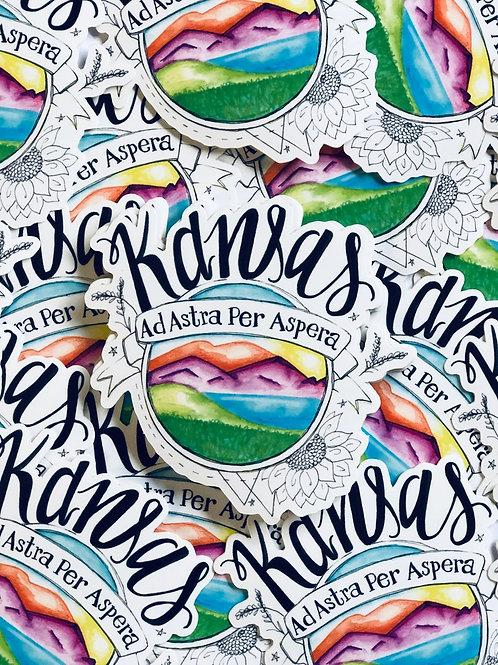 Kansas Seal - Vinyl Sticker