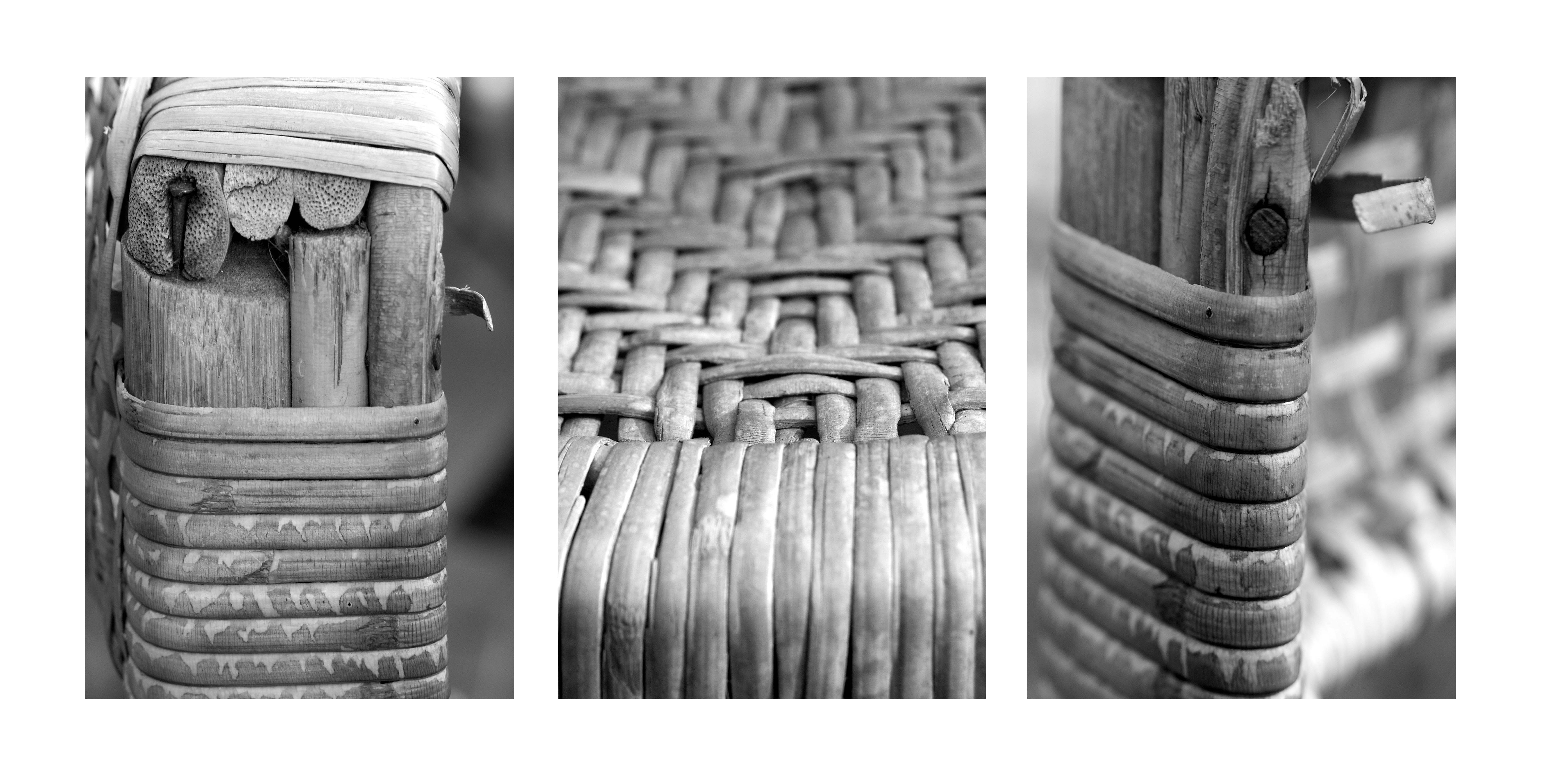 Cane Chair Triptych