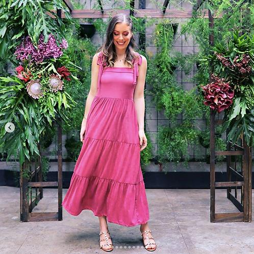 Frente do vestido robin rosa les cloches