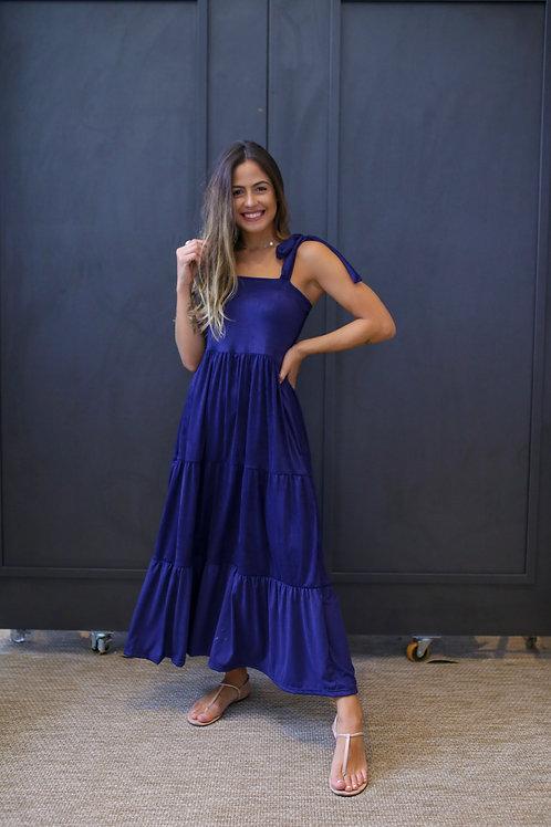 Frente do vestido robin azul marinho les cloches
