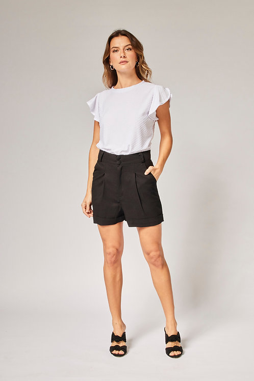 Frente do shorts summer preto les cloches
