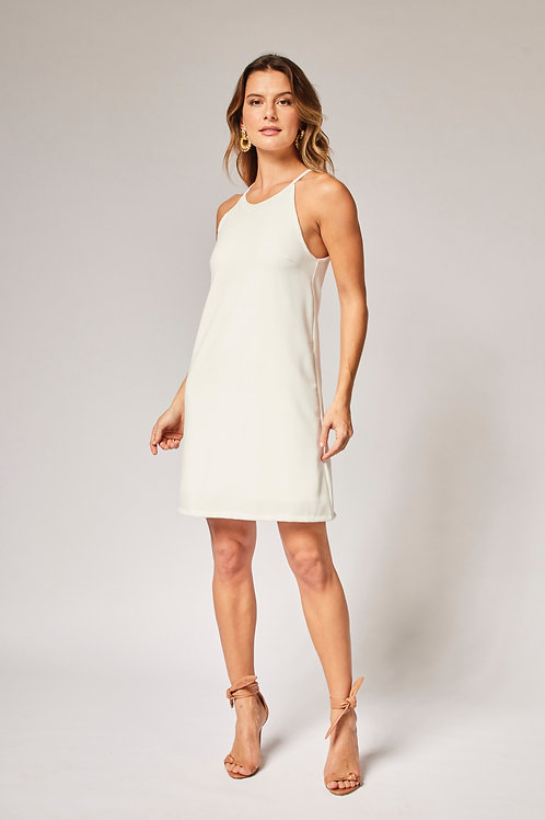 Frente do vestido crepe coração off white les cloches