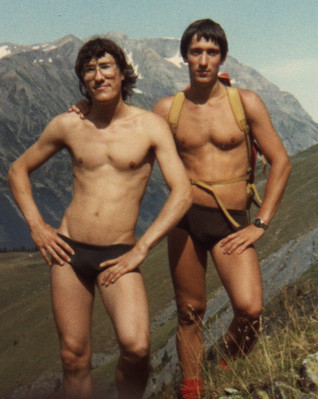 Portrait of my father and his brother by my grandfather Albert,the Alps, France, 1980