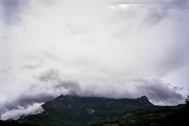 View of Vercors mountains from the city of Grenoble, France