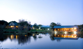 Our Lodge at night