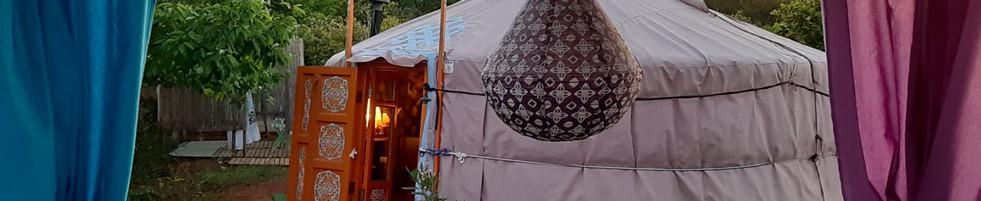 Our beautiful Mongolian Yurt