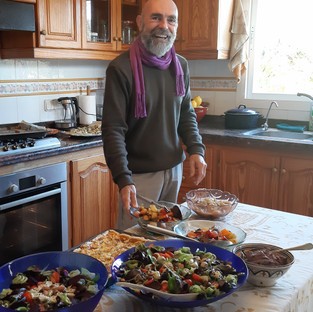 Our lovely cook, Itzak