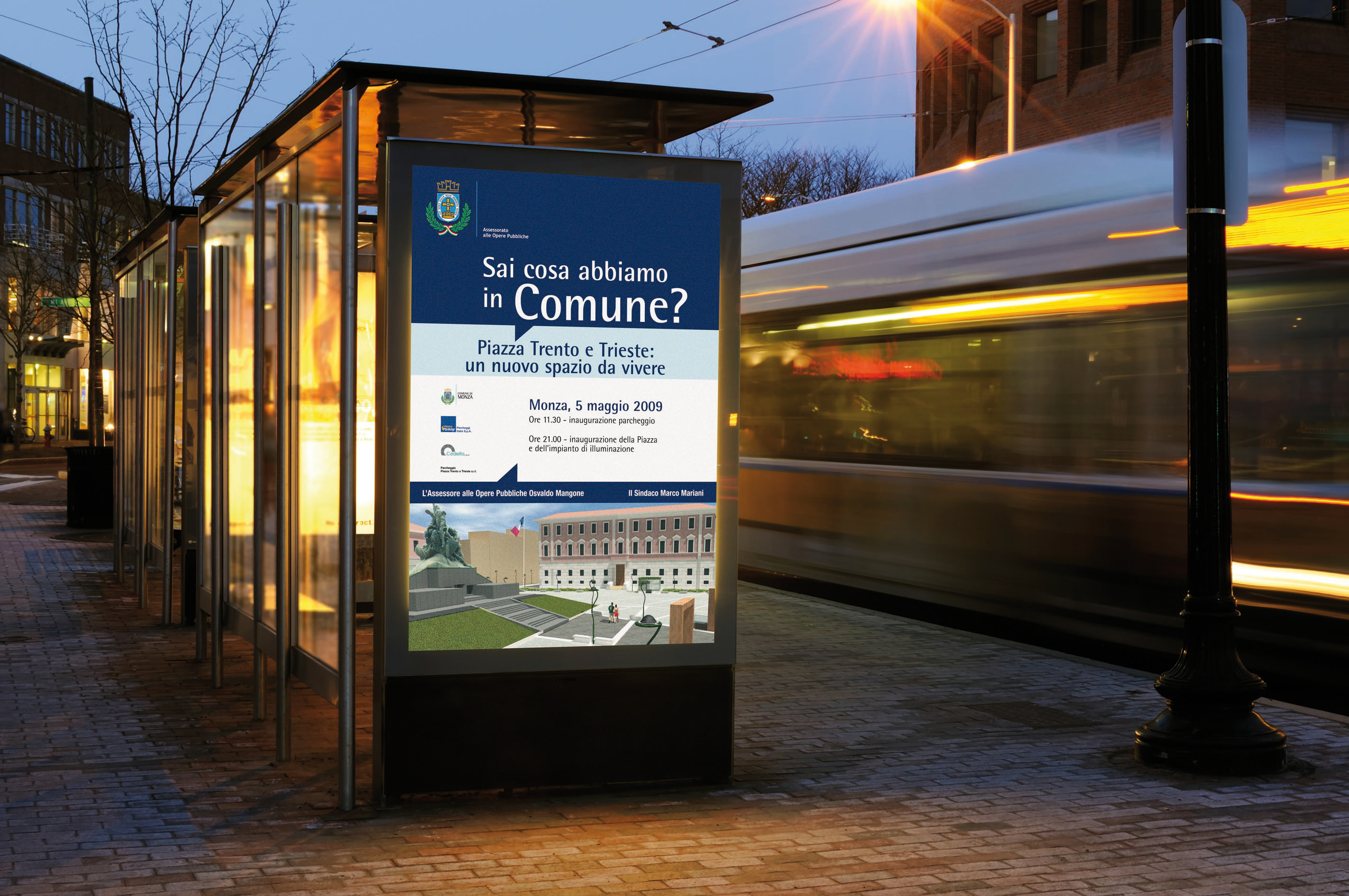 poster digitale Comune MONZA