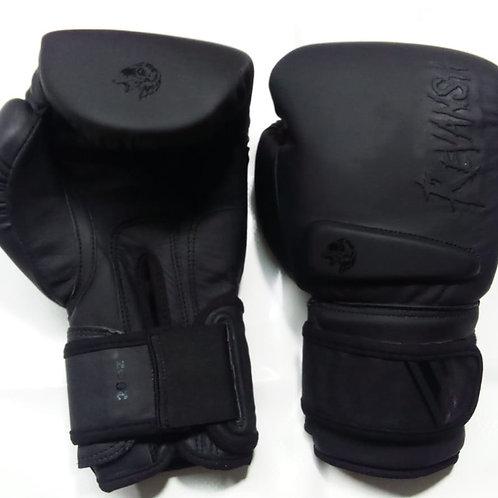 Боксерские перчатки REVANSH PRO Gel, BGL019BK, натуральная кожа