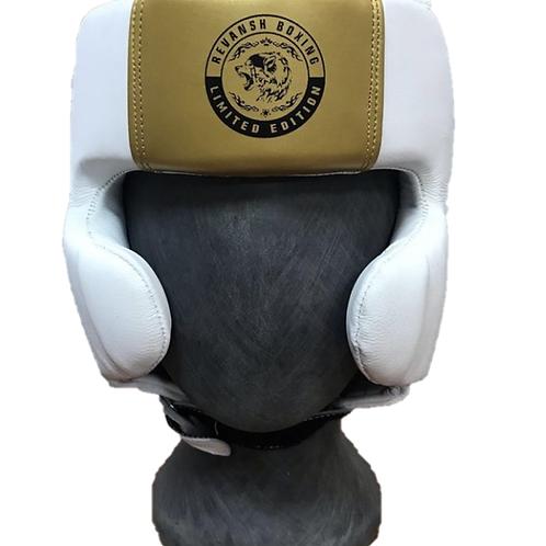 Шлем Мексиканский стиль, HGD005WTGN, бело-золотой, кожа