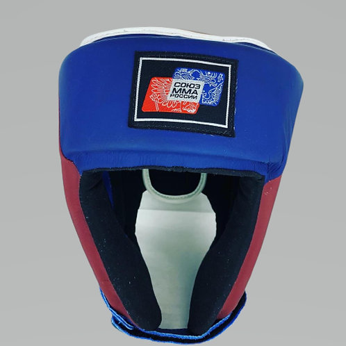 Шлем союз мма России HGL001BURD, сине-красный кожа